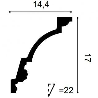 Eckleiste Orac Decor C301F LUXXUS flexible Leiste Zierleiste Deckenleiste Stuckgesims Wand Dekor Leiste 2 Meter - Vorschau 2