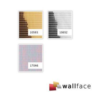 Wandpaneel Wandverkleidung WallFace 10652 M-Style Design Platte Metall Mosaik Party Raum Dekor selbstklebend spiegelnd silber | 0, 96 qm - Vorschau 2
