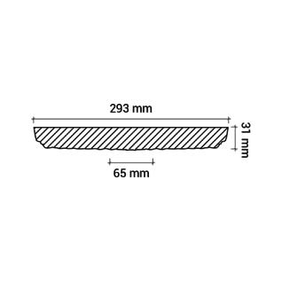 Rosette PROFHOME 156009 Deckenelement Zierelement Neo-Renaissance-Stil weiß Ø 29, 3 cm - Vorschau 3