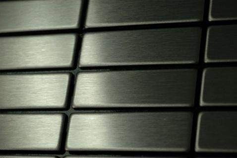 Mosaik Fliese massiv Metall Edelstahl gebürstet in grau 1, 6mm stark ALLOY Cabin-S-S-B 1, 01 m2 - Vorschau 5