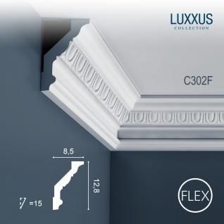 Eckleiste Orac Decor C302F LUXXUS flexible Leiste Zierleiste Deckenleiste Stuckgesims Wand Dekor Leiste   2 Meter