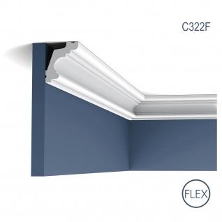 Dekor Profil Orac Decor C322F LUXXUS flexible Leiste Eckleiste Zierleiste Decken Stuck Gesims Dekorleiste 2 Meter