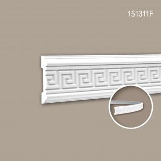 Wand- und Friesleiste PROFHOME 151311F Stuckleiste Flexible Leiste Zierleiste Zeitloses Klassisches Design weiß 2 m