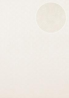 Luxus Struktur Tapete Atlas COL-543-1 Vliestapete Luxus Strukturiert unifarben schimmernd weiß perl-weiß 5, 33 m2