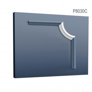 Wandleiste Stuck Orac Decor P8030C LUXXUS Eckelement Zierleiste für Friesleiste Rahmen Spiegel Profil Wand Dekor Element