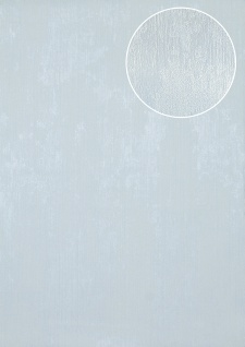 Uni Tapete Atlas TEM-5112-4 Vliestapete strukturiert in Spachteloptik schimmernd blau pastell-blau hell-blau grau-weiß 7, 035 m2