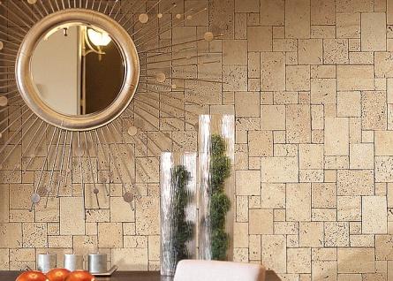 3D Stein Vliestapete EDEM 957-28 XXL stone cubes geprägte Mosaik-Stein Naturstein Optik grün-grau 10, 65 qm - Vorschau 3