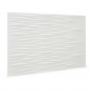 Wandpaneel 3D Profhome 3D 704551 Wilderness White Dekorpaneel geprägt in Kunststoff Optik glänzend weiß 1, 7 m2