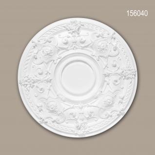 Rosette PROFHOME 156040 Zierelement Deckenelement Neo-Empire-Stil weiß Ø 70, 7 cm