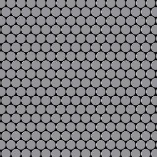 Mosaik Fliese massiv Metall Edelstahl matt in grau 1, 6mm stark ALLOY Penny-S-S-MA 0, 92 m2