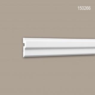 Eckleiste PROFHOME 150266 Zierleiste Stuckleiste Modernes Design weiß 2 m