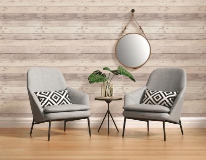 Holz Tapete Profhome 368702-GU Vliestapete glatt in Holzoptik matt grau weiß beige 5, 33 m2 - Vorschau 5