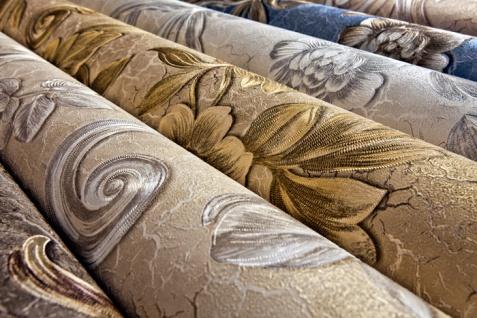 Blumen Tapete EDEM 9013-36 heißgeprägte Vliestapete geprägt mit floralen Ornamenten und metallischen Akzenten anthrazit braun-grau bronze silber 10, 65 m2 - Vorschau 4