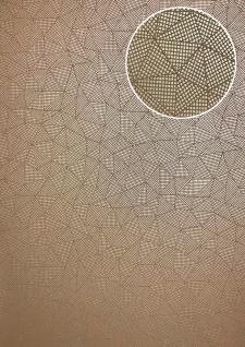 Grafik Tapete ATLAS XPL-590-9 Vliestapete strukturiert mit geometrischen Formen schimmernd beige gold gold-braun 5, 33 m2