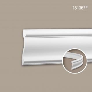 Wand- und Friesleiste PROFHOME 151367F Stuckleiste Flexible Leiste Zierleiste Neo-Klassizismus-Stil weiß 2 m