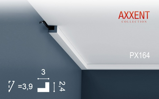 Orac Decor PX164 AXXENT 1 Karton SET mit 30 Wandleisten Zierleisten | 60 m - Vorschau 2
