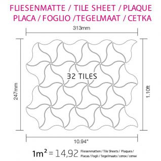 Mosaik Fliese massiv Metall Edelstahl hochglänzend in grau 1, 6mm stark ALLOY Ninja-S-S-M Designed by Karim Rashid 0, 67 m2 - Vorschau 4