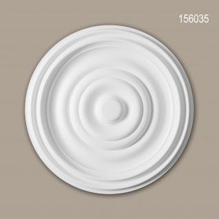 Rosette PROFHOME 156035 Zierelement Deckenelement Zeitloses Klassisches Design weiß Ø 48, 5 cm