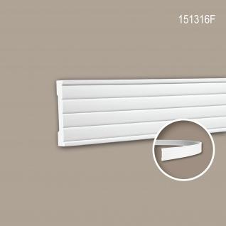 Wand- und Friesleiste PROFHOME 151316F Stuckleiste Flexible Leiste Zierleiste Modernes Design weiß 2 m