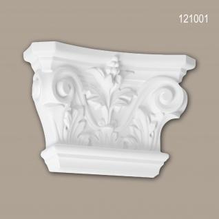 Pilaster Kapitell PROFHOME 121001 Zierelement Korinthischer Stil weiß