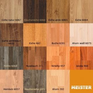 MEISTER 6067 Klick Laminat Laminatboden Eiche natur Holz-Nachbildung 3-Stab Schiffsboden | 3, 06 qm / 12 Dielen - Vorschau 3