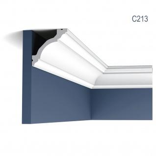 Zierleiste Orac Decor C213 LUXXUS Stuckleiste Eckleiste Stuckprofil Dekor Decken Wand Leiste klassisch weiß | 2 Meter