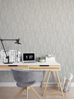 Streifen Tapete Profhome VD219141-DI heißgeprägte Vliestapete geprägt mit Streifen dezent schimmernd silber grau 5, 33 m2 - Vorschau 2