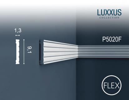 Friesleiste Stuck Orac Decor P5020F LUXXUS flexible Wandleiste Zierleiste Stuck Dekor Profil Zierleiste Wand | 2 Meter