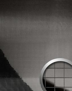 Wandpaneel Wandverkleidung WallFace 10533 M-Style Design Metall Mosaik Dekor selbstklebend spiegel glatt anthrazit   0, 96 qm