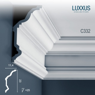 Stuckleiste Dekor Profil Orac Decor C332 LUXXUS Eckleiste Zierleiste Decken Wand Stuck Gesims Dekorleiste | 2 Meter