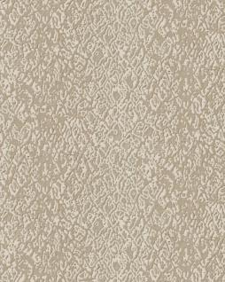 Tiermotiv Tapete Profhome DE120122-DI heißgeprägte Vliestapete geprägt mit Schlangenmuster glänzend elfenbein 5, 33 m2