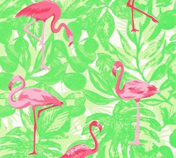 Kinder Tapete Profhome 359802-GU Vliestapete leicht strukturiert mit Kinder Muster matt rosa grün 5, 33 m2