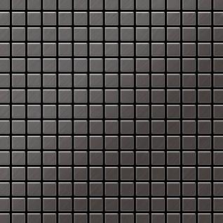 Mosaik Fliese massiv Metall Titan gebürstet in dunkelgrau 1, 6mm stark ALLOY Mosaic-Ti-SB 1, 04 m2