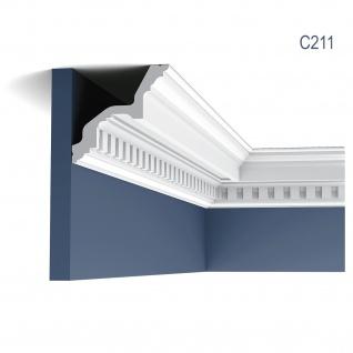 Zierleiste Orac Decor C211 LUXXUS Eckleiste Stuckleiste Profilleiste Stuckdekor Decken Wand Leiste 2 Meter