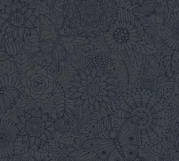 Ethno Tapete Profhome 358162-GU Vliestapete glatt im Ethno-Stil matt schwarz metallic 5, 33 m2