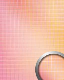 Wandpaneel Wandverkleidung WallFace 18436 M-Style HOLLYWOOD Mosaik selbstklebend spiegelnd pink orange Verlauf 0, 96 qm - Vorschau 1