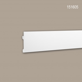Wand- und Friesleiste PROFHOME 151605 Stuckleiste für indirekte Beleuchtung Zierleiste Modernes Design weiß 2 m