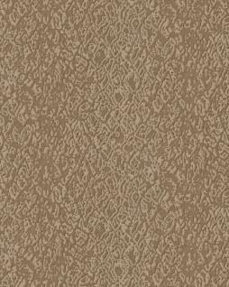 Tiermotiv Tapete Profhome DE120123-DI heißgeprägte Vliestapete geprägt mit Schlangenmuster glänzend beige 5, 33 m2