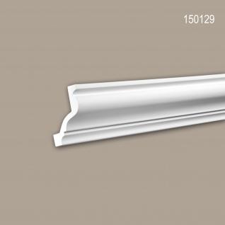 Eckleiste PROFHOME 150129 Zierleiste Stuckleiste Neo-Klassizismus-Stil weiß 2 m