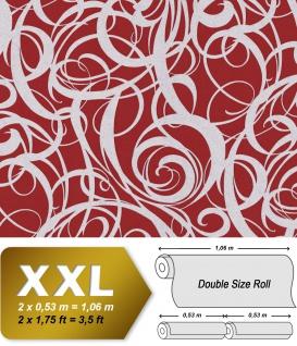 Grafik Tapete EDEM 81136BR25 heißgeprägte Vliestapete mit abstraktem Muster und metallischen Akzenten rot purpur-rot silber 10, 65 m2