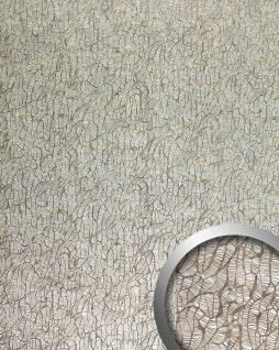 Wandpaneel Abstrakt Design Platte WallFace 17037 DECO MONSOON Wandverkleidung selbstklebend silber braun 2, 60 qm