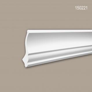 Eckleiste PROFHOME 150221 Zierleiste für indirekte Beleuchtung Stuckleiste Neo-Klassizismus-Stil weiß 2 m