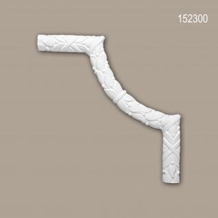 Eckelement PROFHOME 152300 Zierelement Rokoko Barock Stil weiß