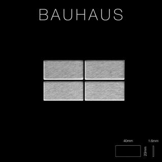 Mosaik Fliese massiv Metall Edelstahl marine gebürstet in grau 1, 6mm stark ALLOY Bauhaus-S-S-MB 1, 05 m2 - Vorschau 2