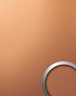 Wandpaneel Design Platte WallFace 12432 DECO EyeCatch Metall Dekor selbstklebende Tapete kupfer braun gebürstet | 2, 60 qm
