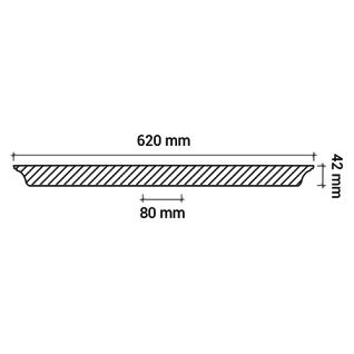 Rosette PROFHOME 156044 Zierelement Deckenelement Zeitloses Klassisches Design weiß Ø 62 cm - Vorschau 3
