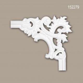 Eckelement PROFHOME 152279 Zierelement Rokoko Barock Stil weiß