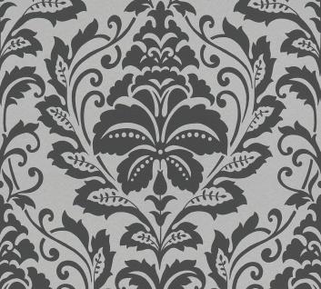 Barock Tapete Profhome 369102-GU Vliestapete glatt im Barock-Stil glänzend silber grau 5, 33 m2