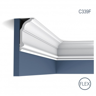 Stuck Zierleiste Orac Decor C339F LUXXUS flexible Eckleiste leiste Deckenprofil Wandleiste klassisch 2 Meter