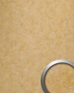 Wandpaneel Vintage Look WallFace 19021 CLASSY GOLD Wandverkleidung glatt in Metall Optik glänzend selbstklebend abriebfest gold 2, 6 m2